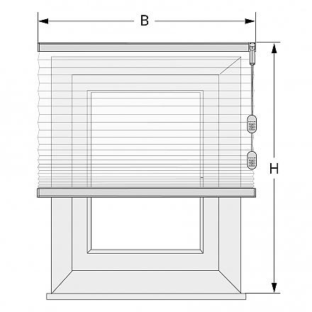 plissee wand montag so messen sie richtig. Black Bedroom Furniture Sets. Home Design Ideas
