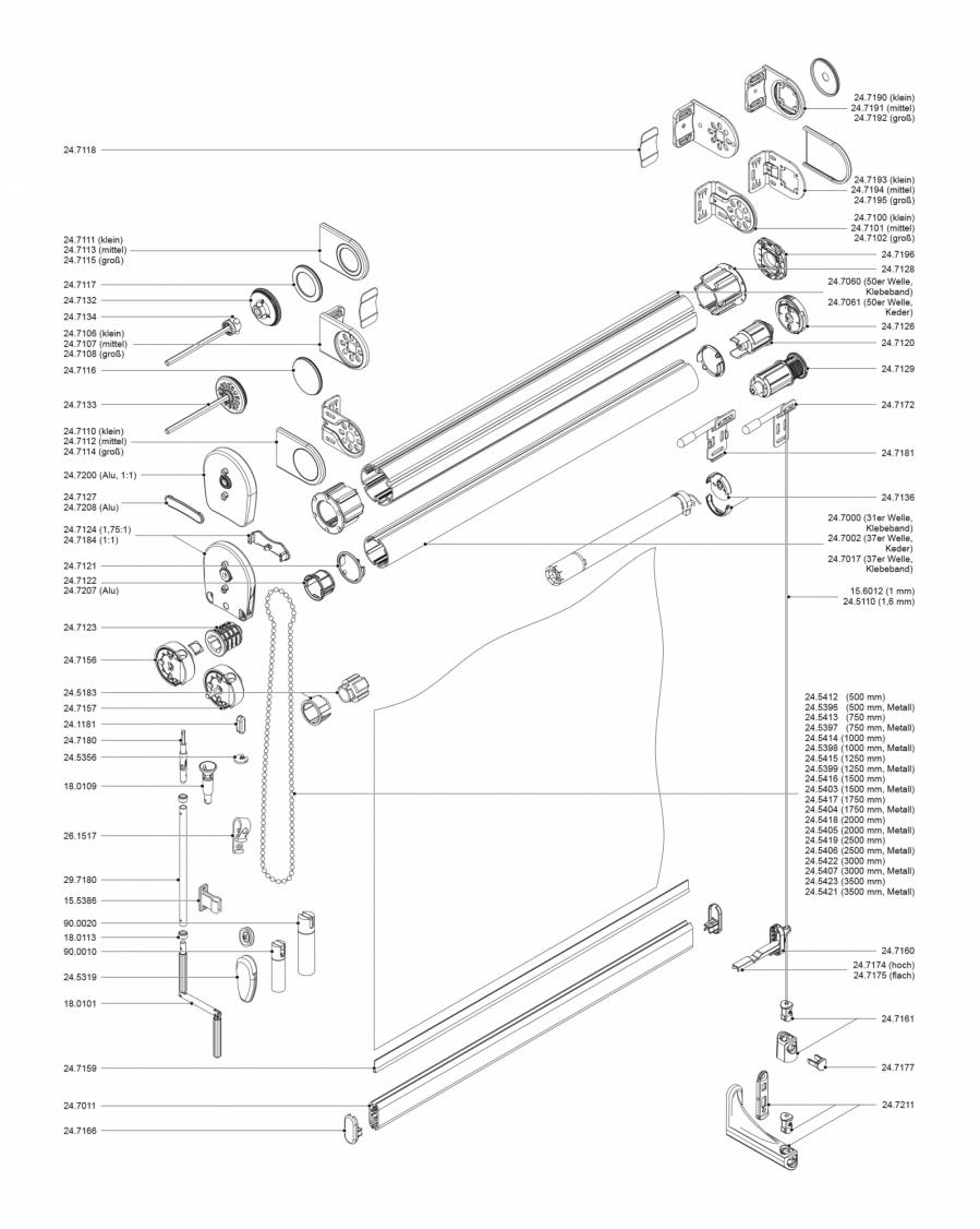 Maxi premium rollo f r wandmontage mit basis tr ger - Kettenhalter wand ...