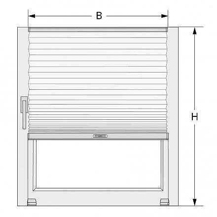 plissee fensterfl gel montage messen sie richtig. Black Bedroom Furniture Sets. Home Design Ideas